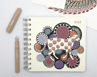 Leopard and Suns 2022 Diary - Mid Year / Yearly Format