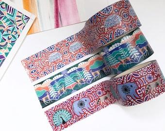 Set of Three Rolls of Washi Tape (25mm)
