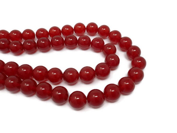 8mm 200 Count FACETED Translucent Ruby Beads USA Fishing Tackle