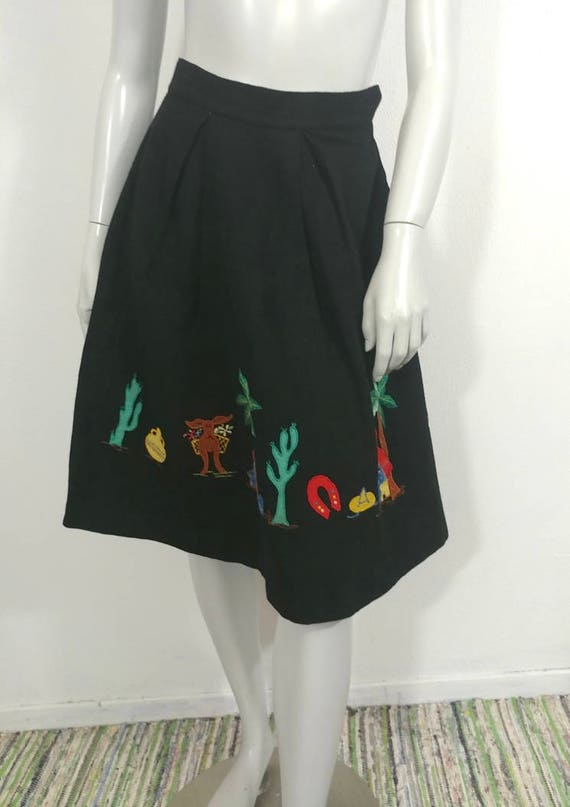 Whimsical & Rare Vintage 1930s Mexican Applique W… - image 2
