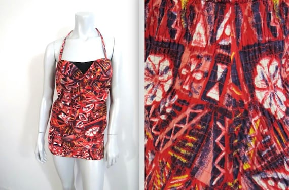 Vintage Early 50s Miss Hawaii One Piece Ruched Swi
