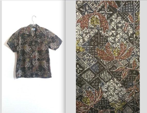 Vintage 50s Andrade Resort Shops Men's Batik Print