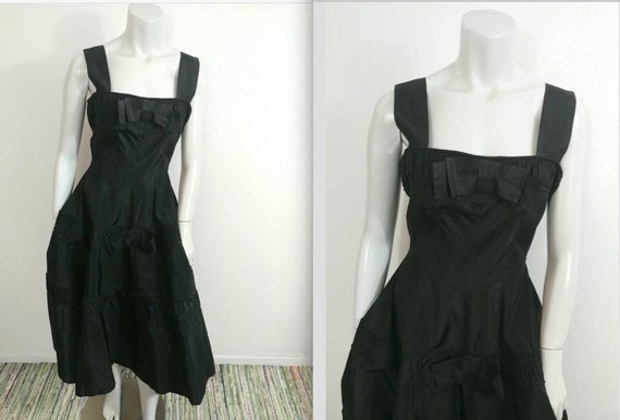 Vintage 50s Gigi Young Originals Black Taffeta Par
