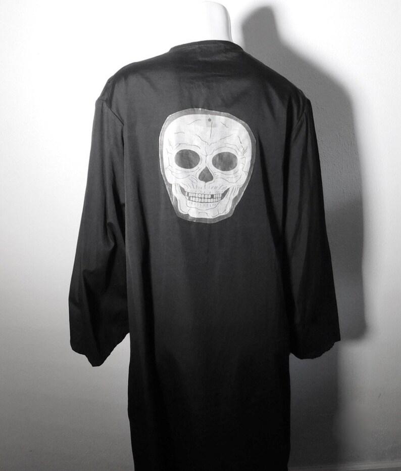 Rare Victorian Lodge Coat w Halloween Skeleton Skull Applique