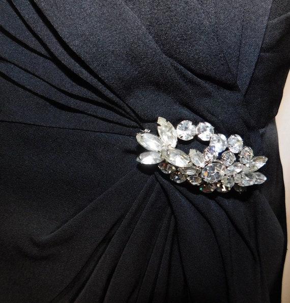 Gorgeous 1950s Ceil Chapman Draped Silk Crepe Lit… - image 5