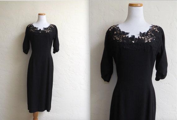 Vintage 50s NOS Minx Modes Illusion Lace Neck Wigg