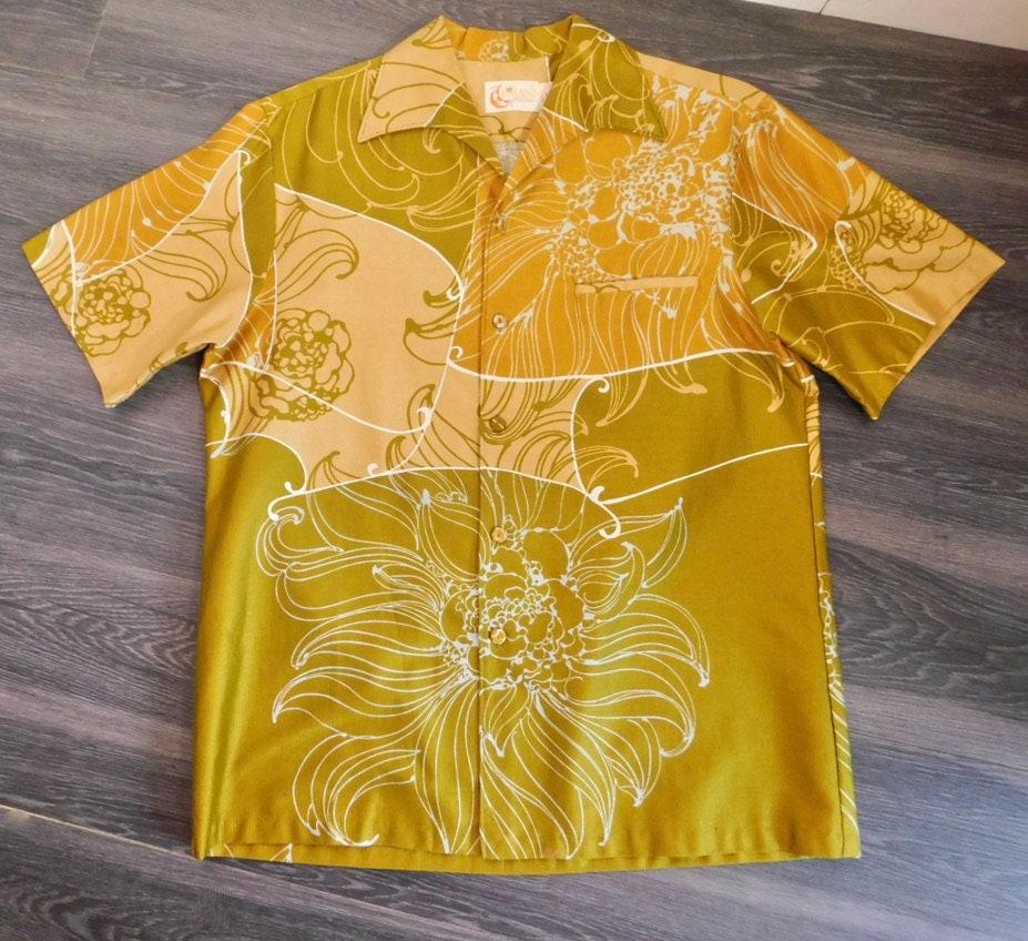 1960s – 70s Men's Ties | Skinny Ties, Slim Ties Vintage 60S Iolani Mens Hawaiian Shirt Funky Greens  Yellows L $45.00 AT vintagedancer.com