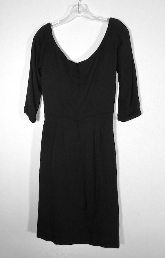 Gorgeous 1950s Ceil Chapman Draped Silk Crepe Lit… - image 8