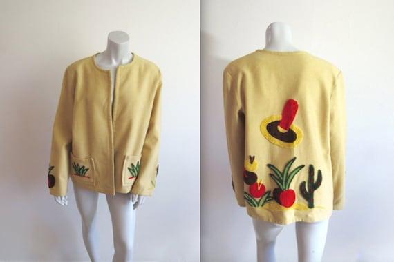 Amazing Vintage 40s La Muchacha Chenille Embroider