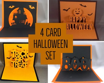 Halloween Pop Up Card Happy Halloween Card Set Handmade Halloween Cards Cute Halloween Card for Kids Funny Halloween Card Handmade Card