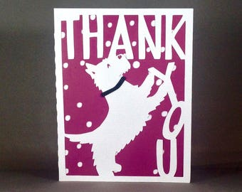 Scottish Terrier Dog Thank You Card Set, Dog Thank You Cards Set, Scottie Dogs, Gift for Dog Lovers, Dog Lover Cards, Thank You Dog Cards