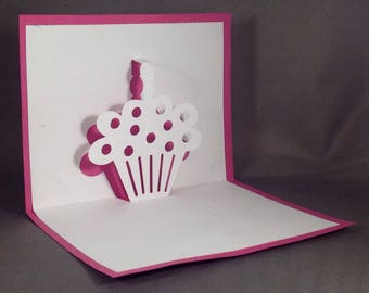 Cupcake Pop Up Card for Mom | Sweet 16 Girl Funny Birthday Card for Girlfriend | Bday Cards for Mom | Sister Birthday Card for Her