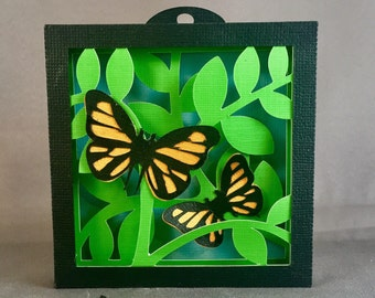 Shadow Boxes Wall Decor Papercutting Butterfly Wall Art | Papercuts | Paper Cut Wall Art | Nursery Wall Art | Shadow Box Artwork | Butterfly