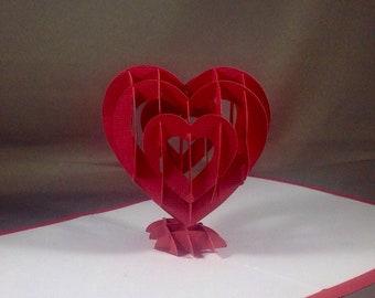 Hand made Valentine, Special Valentine, 3d Valentine Card, Pop Up Valentines Card, Popup Valentine Card, Pop-Up Valentine, Be My Valentine