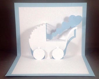 Kirigami Funny New Baby Cards Baby Boy Cards, Baby Shower Card, Funny Baby Card, Baby Congratulations Baby Funny Pregnancy Card New Mom Card