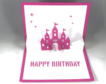 Daughter Birthday Pop Up Card with Disney Princess Birthday Card Princess Card Daughter Gift Card for Her 3d Birthday Card Gift for Daughter