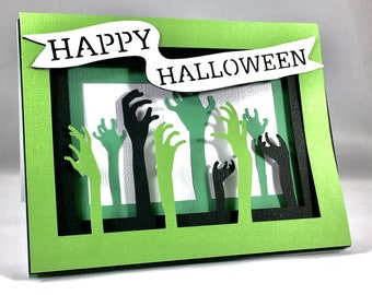 Happy Halloween Cards Cute Halloween Greeting Funny Zombie Card Zombie Halloween for Her Cute Halloween Card Funny Halloween Card Scary Card