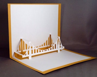 Golden Gate Bridge San Francisco Cards | California Bridge 3D Pop Up Cards | SF Card California Cards Architecture Cards Architectural Card