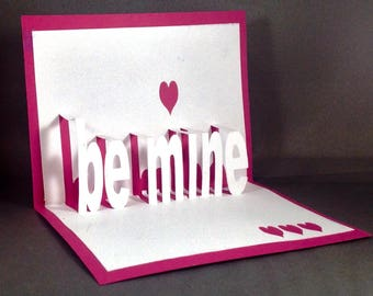 Pop Up Valentines Day Card for Husband Be Mine   Funny Valentines Card for Him   I Love You Card for Wife Cute Valentine Card for Girlfriend