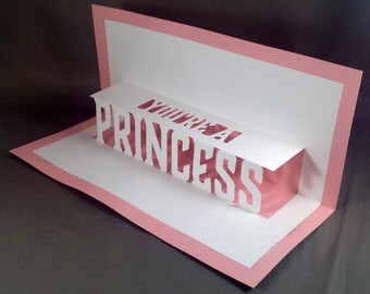 Fairy Princess Cards for Princess Party or Princess Invite | Disney Princess Birthday Princess Invitation Female Birthday Card Pop Up Cards