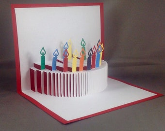 3D Birthday Card Pop Up Birthday Cake Card | Pop Up Birthday Cards | Birthday Pop Up Cards | 3D Pop Up Card | Pop-Up Birthday Card Kirigami