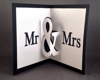 Mr and Mrs Wedding Card Wishes Pop Up Cards | Future Mrs Wedding Card Ideas | Bridal Shower Wedding Day Cards Bride and Groom Wedding Cards