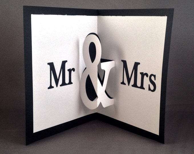 Featured listing image: Mr and Mrs Wedding Card Wishes Pop Up Cards | Future Mrs Wedding Card Ideas | Bridal Shower Wedding Day Cards Bride and Groom Wedding Cards