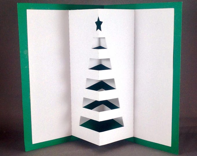 Featured listing image: Pop Up Cards Christmas Trees Cards | Christmas Card Funny Christmas Cards | Cute Christmas Cards | Christmas 2017 | Cute Xmas Cards