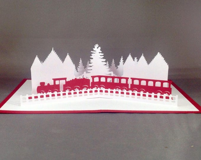 Featured listing image: Pop Up Christmas Cards with Christmas Train