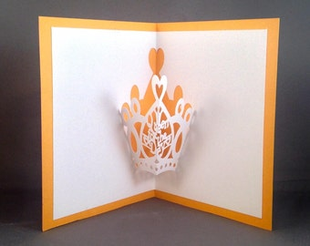 Queen for a Day Funny Birthday Cards for Girlfriend Card for Girlfriend | Queen of Hearts Mothers Day Cards | Daughter Birthday Card for Her