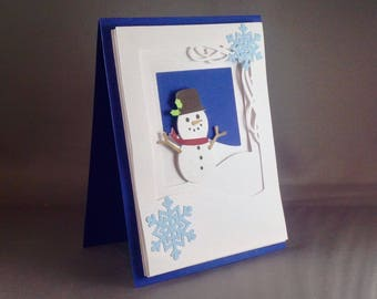 Frosty Snowman Card | Merry Christmas Card | Blank Card Christmas Card Blank Christmas Card | Funny Christmas Cards 2017 | Snowflake Cards