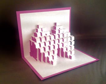 Kirigami Paper Sculpture Art Pop Up Card Geometry Birthday | 3D Birthday Card for Her | Birthday Pop Up Card for Him | Pop Up Cards for Her