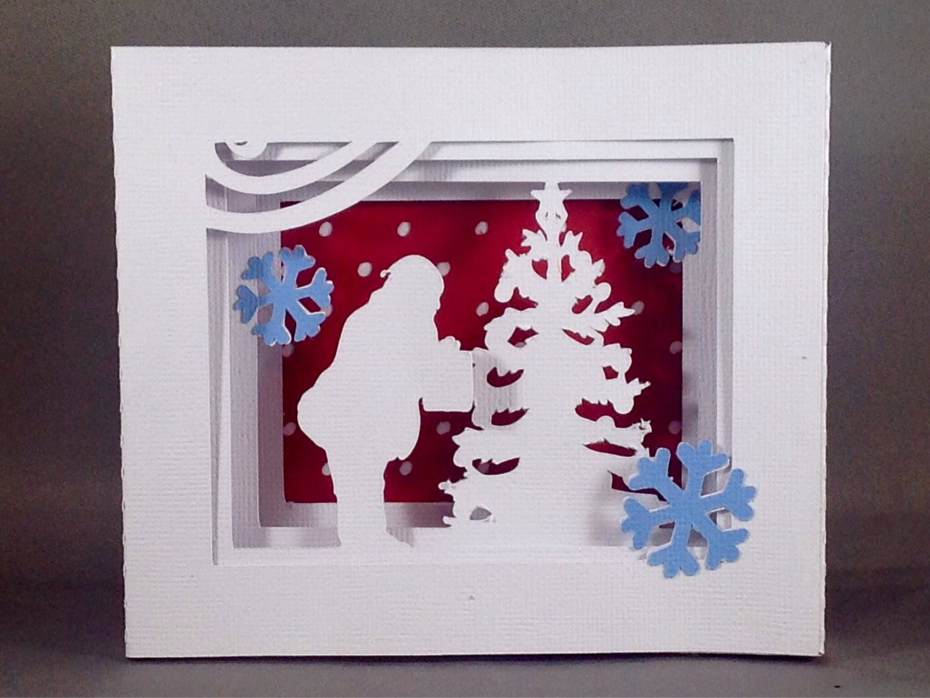 Christmas Greeting Card Ideas.Santa Clause Cards Holiday Cards Ideas W Christmas Tree