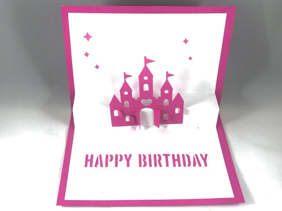 Daughter Birthday Pop Up Card With Disney Princess