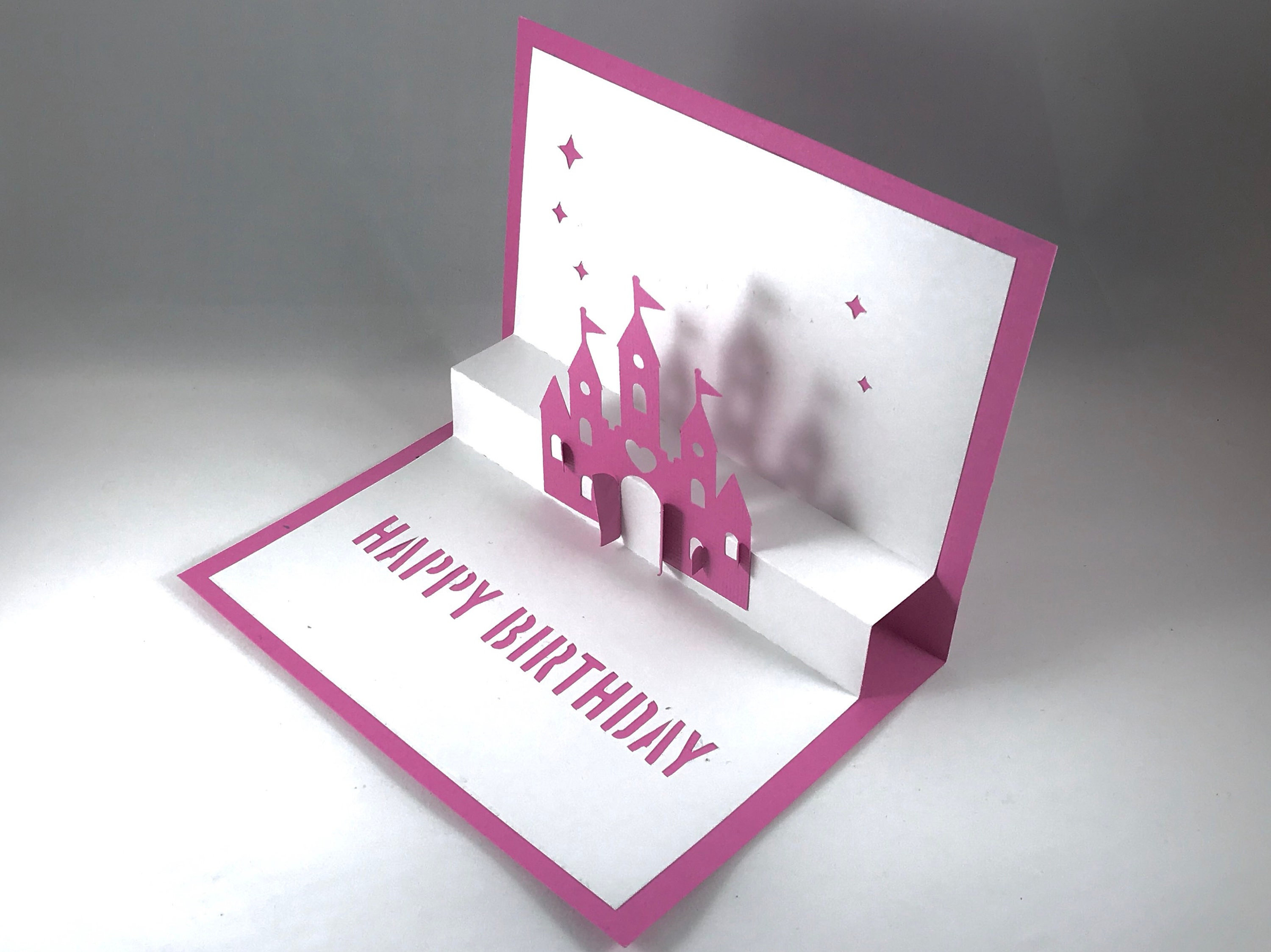 Daughter Birthday Pop Up Card With Disney Princess Gift For Her 3d