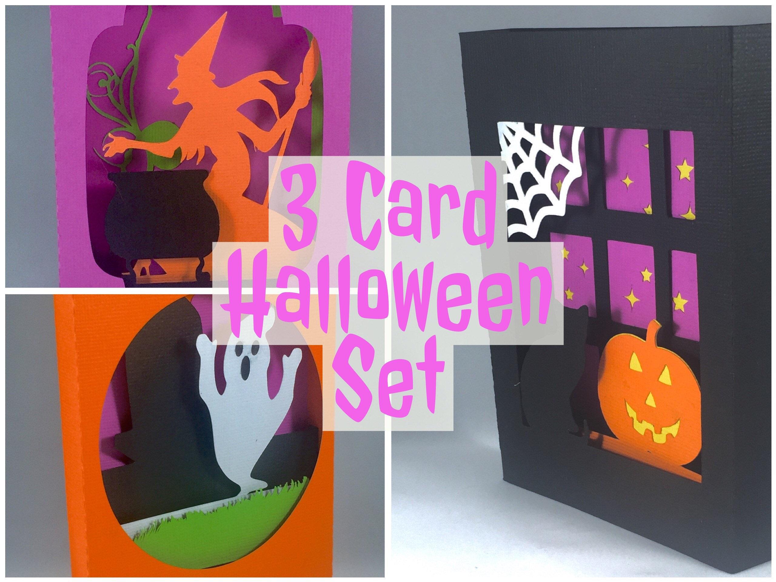 happy halloween card set handmade halloween cards cute halloween