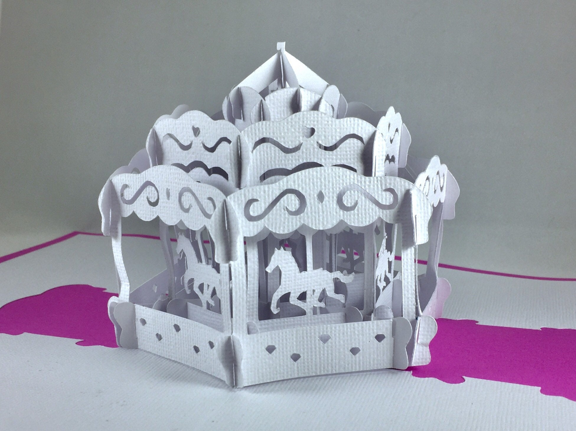 template for carousel pop up card
