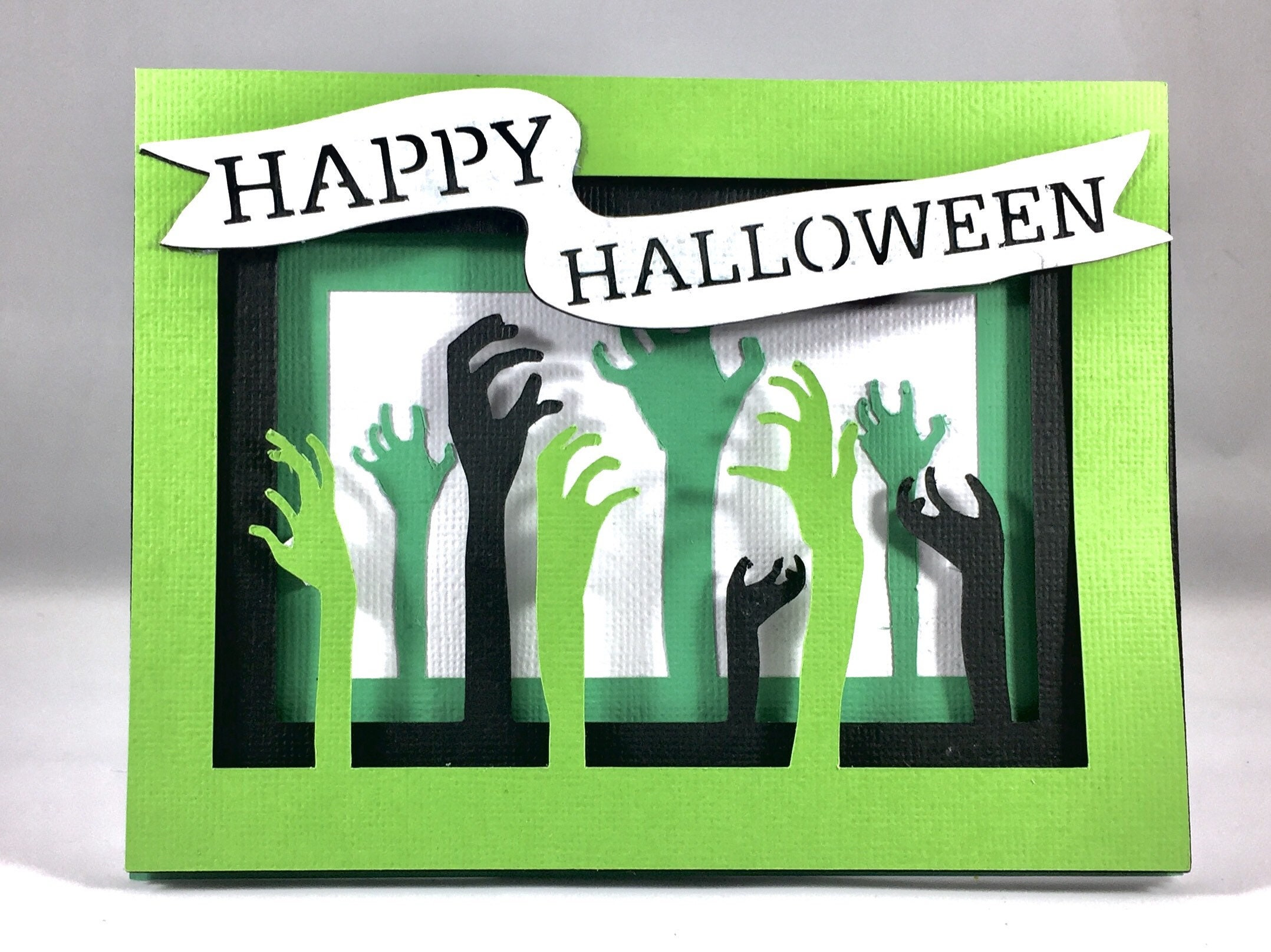 Happy Halloween Cards Cute Halloween Greeting Funny Zombie Card