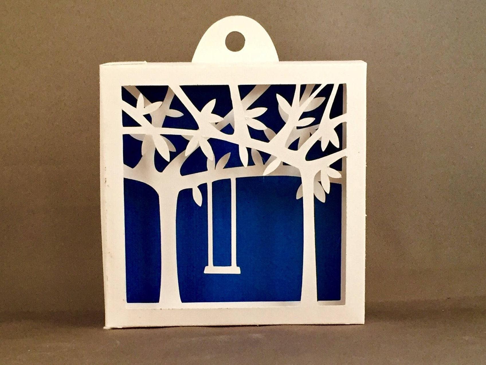 3d shadowbox arbre balan oire pour chambre denfant d coration etsy. Black Bedroom Furniture Sets. Home Design Ideas
