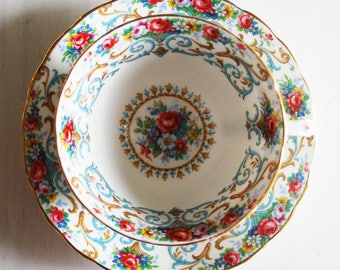 Tuscan Orleans Vintage Teacup and Saucer, Floral Tea Cup