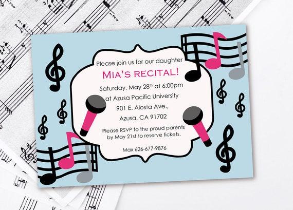 Singing Birthday Cards Personalised Musical Greeting Uk Music Invitation Recital