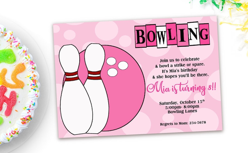 Bowling Party Invitation Printable Invitations