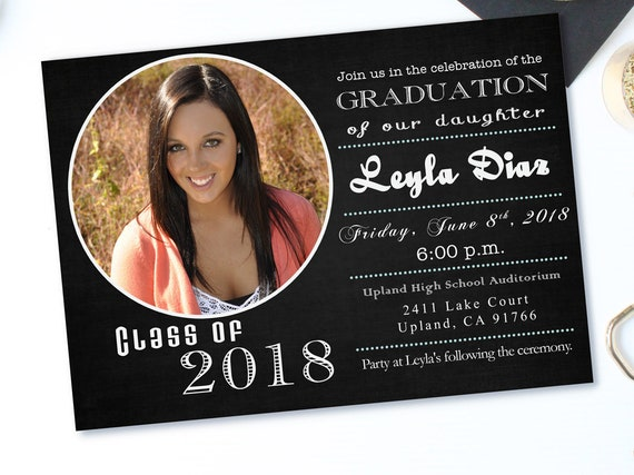 personalized graduation announcement graduation invitation etsy