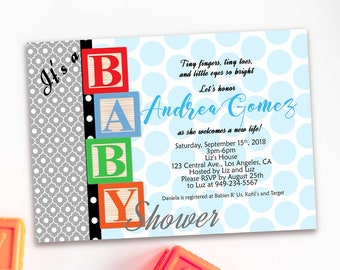 Baby block shower etsy baby blocks baby shower invitation baby blocks birthday invitation boy or girl baby blocks invite baby blocks shower invite diy filmwisefo