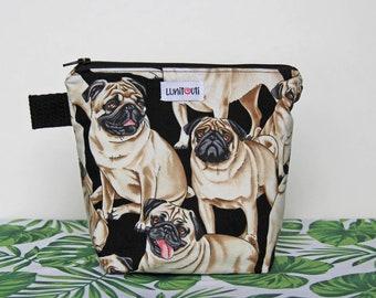 Reusable sandwich bag, reusable snack bag, ecofriendly, zero waste, zippered bag, cosmetic bag, ProCare lined – Pug Dog
