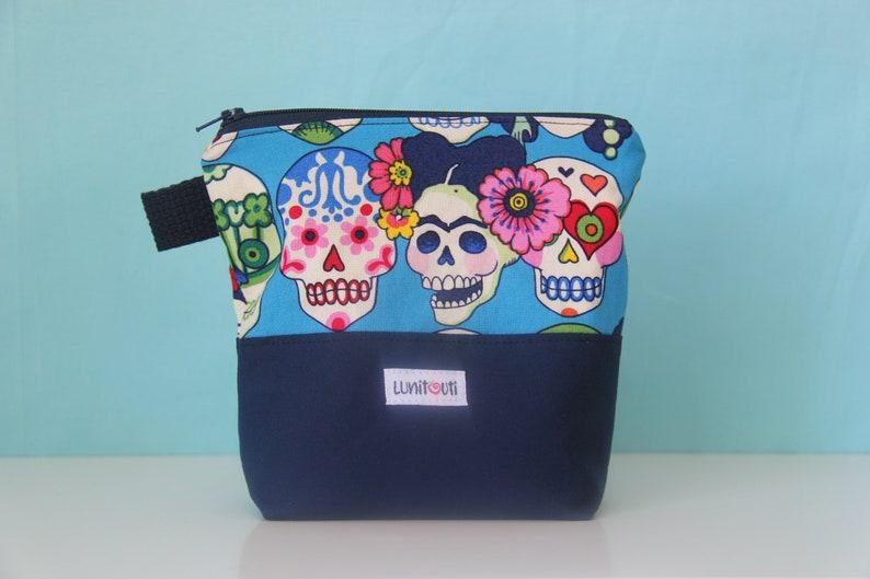 Reusable sandwich bag, reusable snack bag, ecofriendly, zero waste,  zippered bag, cosmetic bag, ProCare lined – Gotas de Amor Blue