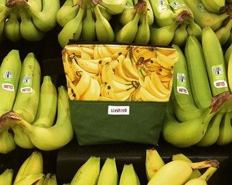 Reusable sandwich bag, reusable snack bag, ecofriendly, zero waste, zippered bag, cosmetic bag, ProCare lined – Banana