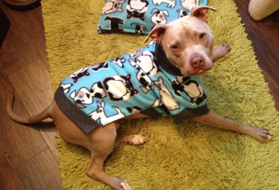 Custom Size Print Fleece Dog Sweater Large To Extra Large Etsy