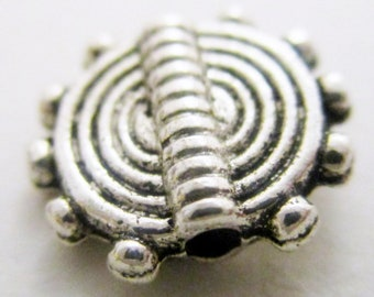 silver Color rectangular flat Spacer Beads  M1055