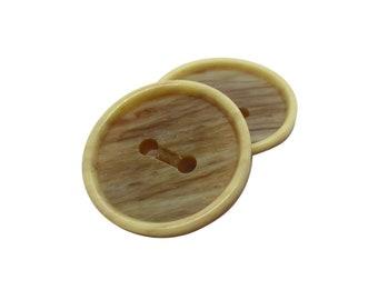 10 Beige Buttons, 20mm Buttons, Garment Buttons